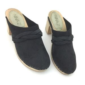Nina Z Made in Sweden Wooden Leather Ida Clogs